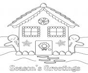 Printable Gingerbread Man House coloring pages