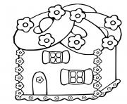 Print Printable Gingerbread House 2 coloring pages