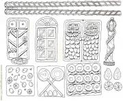 Printable Printable Gingerbread House 4 coloring pages