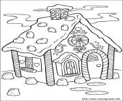 Print Christmas Gingerbread House 3 coloring pages