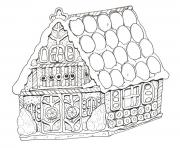Print Printable Gingerbread House coloring pages