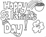 Printable interesting st patricks day happy coloring pages