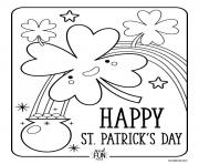 Print St Patricks Day coloring pages
