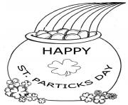 Print happy st patricks day 2 coloring pages