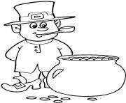 Print patrick pot of gold coloring pages