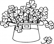 Print st patricks day hat 2 coloring pages