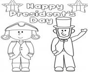 Print Happy Presidents Day coloring pages