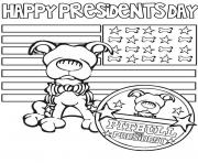 happy presidents day pitbull for president coloring pages