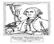 President day george washington coloring pages