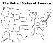 Print map of the usa coloring pages