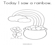 Today I Saw A Rainbow coloring pages
