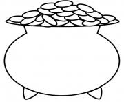 Pot Of Gold Kids World coloring pages