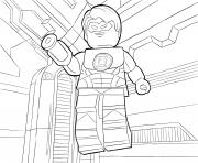 Printable LEGO DC Universe Super Heroes coloring pages