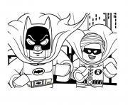 Printable DC Comics Super Heroes LEGO Batman Movie 2017 Coloring Pages