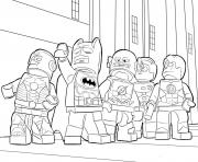 Printable lego batman ironman flash coloring pages
