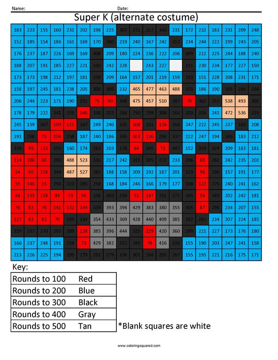 MATH PIXEL ART COLORING Pages Free Download Printable – Super Math Worksheets
