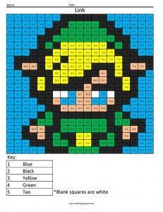 Anna Division Frozen Math Coloring Squared Disney Pixel Art