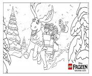 Printable Frozen NL Group lego disney coloring pages