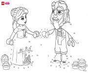 Printable Have fun completing the drawing of Beauty and The Beast lego disney coloring pages