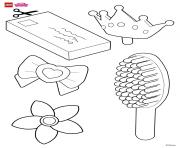 Help decorate Rapunzels hair accessories lego disney coloring pages