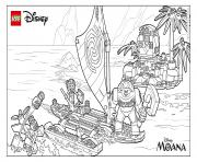 Print Moana Moanas ocean adventure lego disney coloring pages