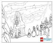 Printable The Ice Castle  lego disney coloring pages