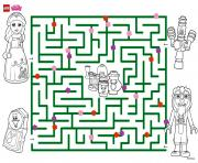 Explore The Amazing Maze lego disney coloring pages
