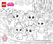 Print color fun with the Palace Pets princess lego disney coloring pages