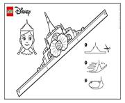 Print Ariel Tiara lego disney coloring pages