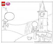 Rapunzel lego disney coloring pages