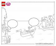 Princess Ariel Boat lego disney coloring pages