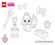 Printable color fun with Pumpkin princess lego disney coloring pages