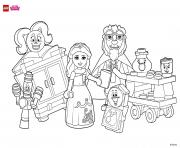 Printable Coloring Fun with Beauty and her friends lego disney coloring pages