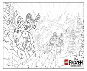 Printable Frozen NL Avalanche lego disney coloring pages