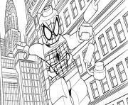 Printable lego marvel for kids spider man coloring pages