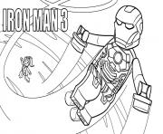 Printable lego marvel iron man 3 coloring pages