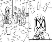 Print lego marvel spiderman police coloring pages