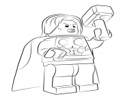 Printable lego marvel thor avengers coloring pages