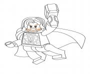 Printable lego marvel thor coloring pages