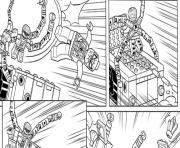 Printable lego marvel with spiderman coloring pages