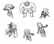 Printable mini avengers marvel coloring pages