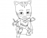 Catboy pj mask coloring pages