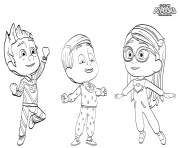Printable PJ Maskss Pajama Heroes coloring pages