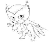 Printable PJ Maskss Owlette Amaya coloring pages