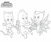 Printable Printable PJ Masks Party coloring pages