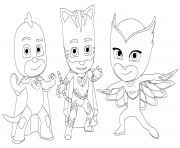 PJ Masks with friends coloring pages