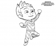 Printable PJ Maskss Catboy Heroes in Pajama coloring pages