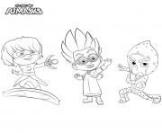 Printable Villains PJ Masks coloring pages