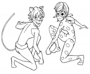 Printable Miraculous Tales of Ladybug Cat Noir Kids coloring pages