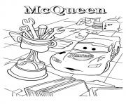 Printable Cars The Surprised Lightning McQueen a4 disney coloring pages
